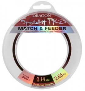 Żyłka DRAGON SPECIALIST Pro MATCH & FEEDER / 0,18mm/ 300m/ 4,75kg