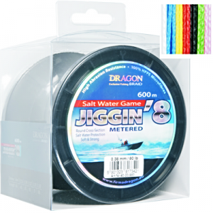 Plecionka Dragon Salt Water Game JIGGIN'8 600m 0,32 mm/60 lb
