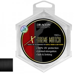 Żyłka DRAGON X-TREME MATCH Soft &Sinking / 0,22 mm/4,50 kg / 150m